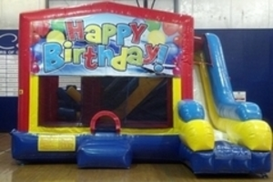 Bounce House Combo with Happy Birthday Panel rental Austin, TX