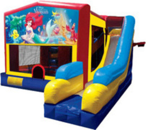 Bounce House Combo with Little Mermaid Panel rental Austin, TX