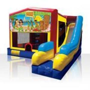 Bounce House Combo with Luau Panel rental Austin, TX
