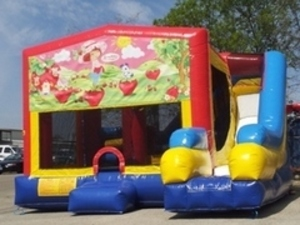 Bounce House Combo with Strawberry Shortcake Panel rental Austin, TX
