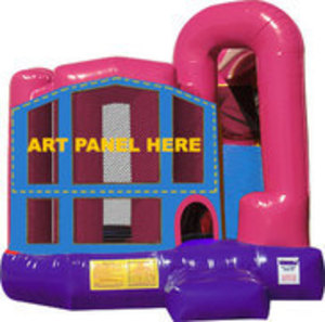 Pink Bounce House Combo rental Austin, TX