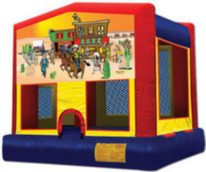 13x13 Bounce House with Western Panel rental Austin, TX