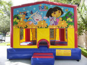 15x15 Bounce House with Dora Panel rental Austin, TX