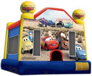 Bounce House with Cars Panel  rental Austin, TX
