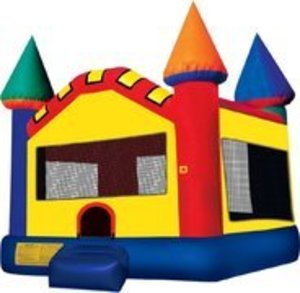 15x15 Multicolor Bounce House Castle rental Austin, TX
