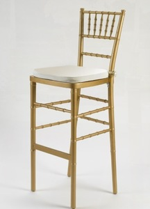 Gold Chiavari Bar Stool with Cushion rental Austin, TX