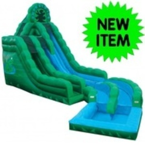 20' Emerald Ice Water Slide with Pool  rental Austin, TX