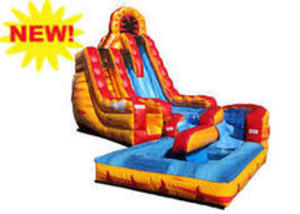 Fire and Ice Double Lane Water Slide rental Austin, TX
