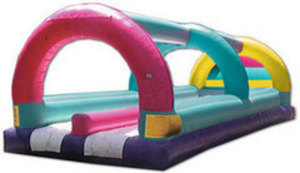Colorful Double Lane Slip 'n' Slide rental Austin, TX