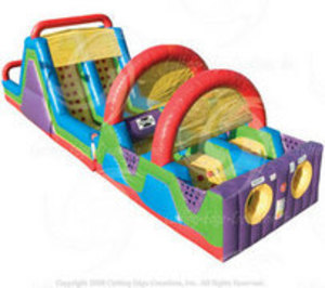 60' Bounce House Obstacle Course  rental Austin, TX