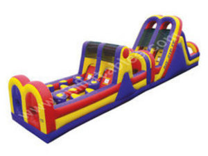 Zip It Obstacle Course Bounce House rental Austin, TX