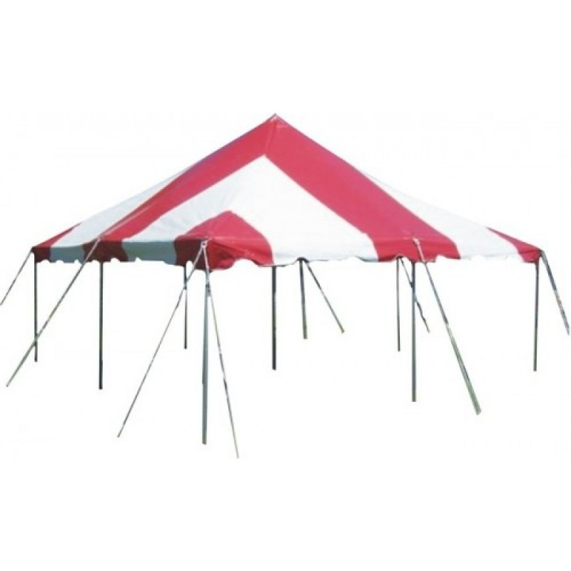 20' x 20' Red & White Pole Tent