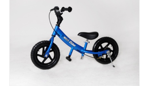 "Blue Mini Glider 12"" kids bike bicycle  rental Austin, TX"