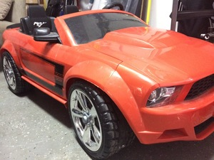 Kids Mustang Convertible Electric Car Power Wheels rental Austin, TX