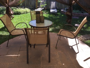 Patio Table and 4 chairs rental Houston, TX