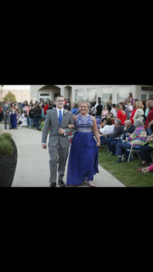 Blue Prom Dress rental Dayton, OH