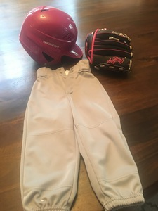 Pink Tball helmet, glove and pants rental Austin, TX
