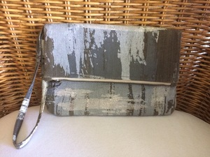 Gray green silver clutch handbag purse rental Austin, TX