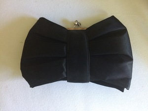 Black Bow Clutch Evening Bag rental Austin, TX