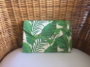 Green Botanical Print Envelope Clutch rental Austin, TX