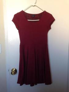 Maroon Aeropostale Evening/Casual Dress rental San Francisco-Oakland-San Jose, CA