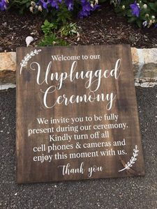 Unplugged Ceremony Sign rental Boston, MA-Manchester, NH