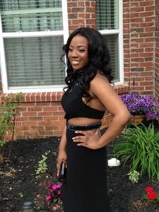 Black Sherri Hill Prom Dress rental Atlanta, GA