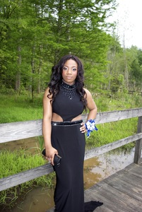 Black Sherri Hill Prom Dress rental Atlanta, GA