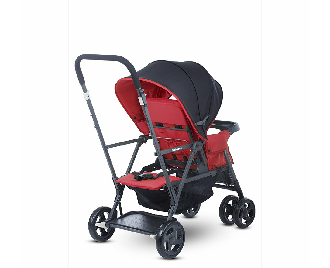 Loanables Red Joovy Caboose Double Sit N Stand Stroller
