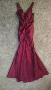 Burgandy Dress rental Jackson, MS
