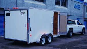 14' X 7'  Dual Axle Enclosed Trailer  rental San Diego, CA