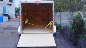 14' X 7'  Dual Axle Enclosed Trailer  rental San Diego, CA