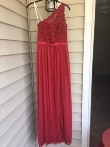 Formal, Floor Length, Red Dress rental Raleigh-Durham (Fayetteville), NC