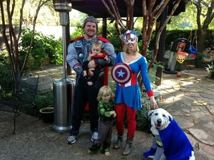 Super Hero Family Costumes rental Austin, TX