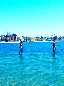 Paddle board - 12' yoga board rental San Diego, CA