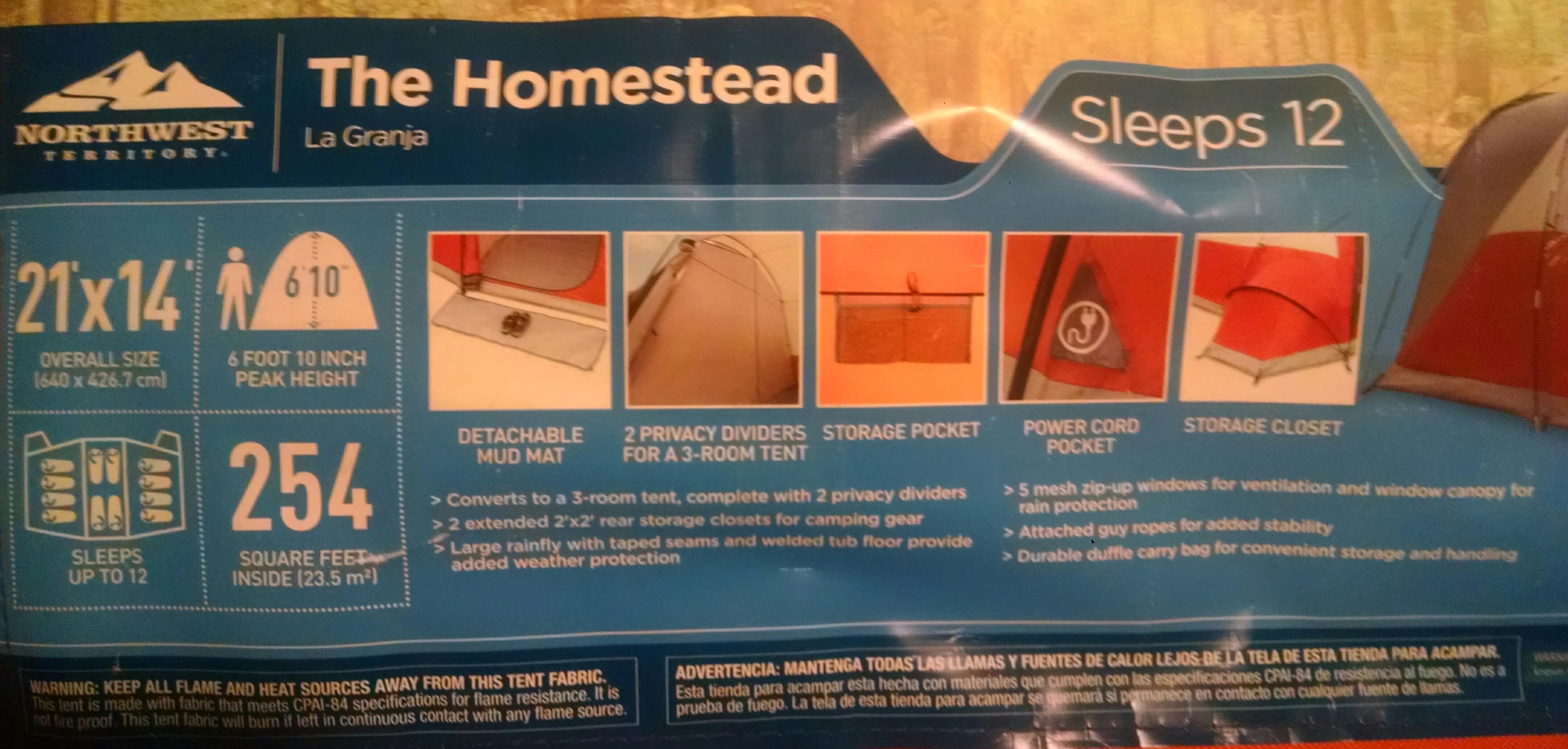 Loanables Northwest Territory Homestead Tent Sleeps 12