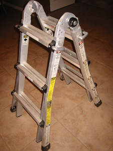 Gorilla adjustable ladder (step and extension) rental Austin, TX