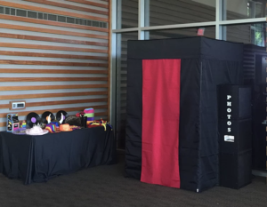 Open air or enclosed photo booth rental Austin, TX