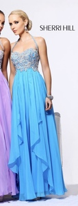 Sherri Hill Prom Dress style 3836 (blue) rental San Diego, CA