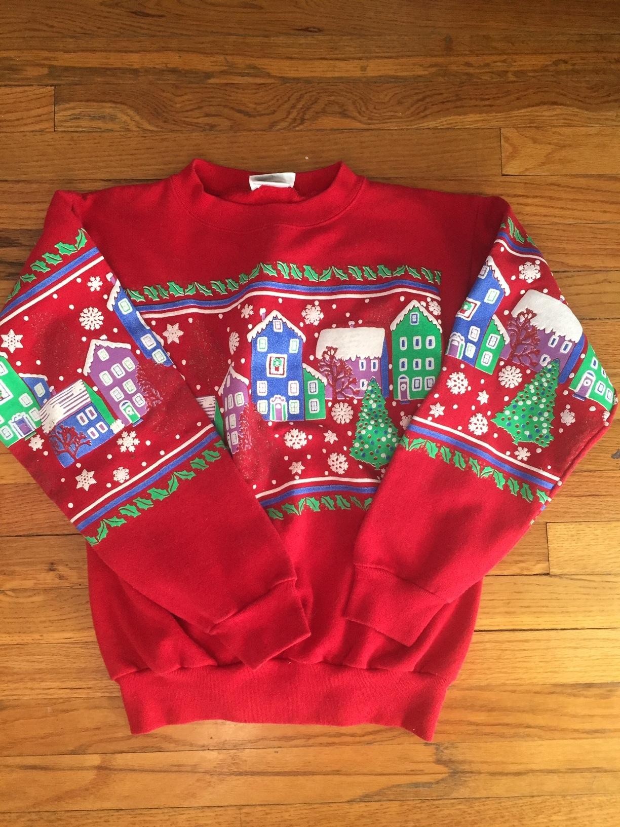 Vintage Christmas Sweaters.Vintage Christmas Sweater