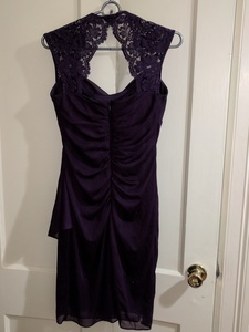 Knee length deep purple dress  rental Washington, DC (Hagerstown, MD)