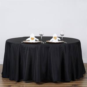 Black 120 inch tablecloth rental Kansas City, MO