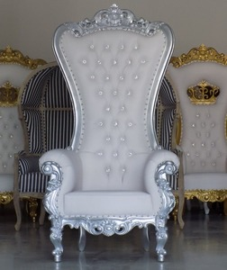 Throne Chair. Silver and White. rental Tampa-St Petersburg (Sarasota), FL
