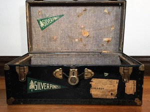 Vintage Trunk with Camp Pennants  rental Denver, CO