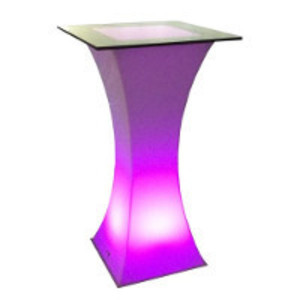 Lighted LED Cocktail Table rental Austin, TX