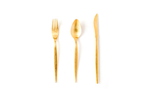 Gold Flatware rental Austin, TX