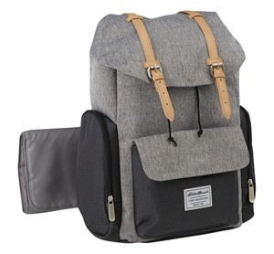 Durable Eddie Bauer Backpack Diaper Bag - Gray rental New York, NY