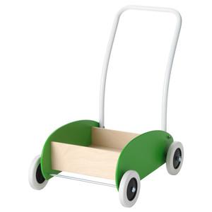 Walk Baby! MULA Toddle Wagon Walker, Green, Birch rental New York, NY