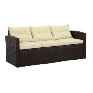 Brown Wicker Sofa rental Austin, TX