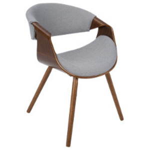 Gray Midcentury Modern Chair rental Austin, TX